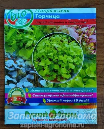 Горчица семена микрозелень