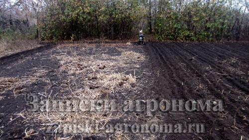 Заделывание в почву органических удобрений